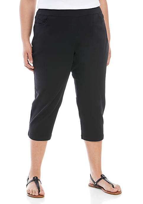 Kim Rogers® Plus Size Cotton Capris