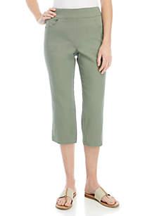 Kim Rogers® Cotton Capri Pants