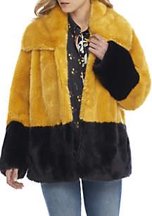 Sebille 2-Tone Fur Jacket