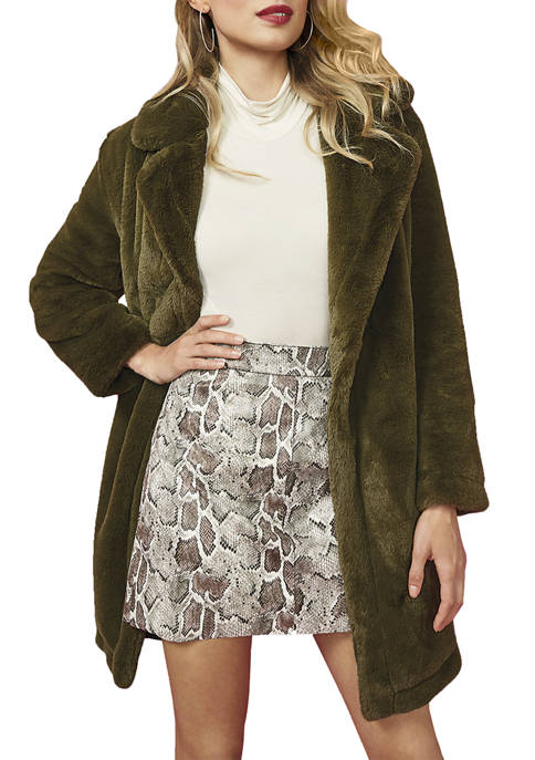 French Connection Buona Faux Fur Coat