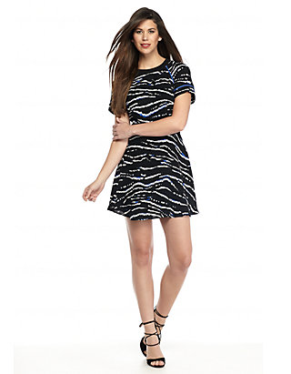 French Connection Womens Tapir Wave Crepe Short Sleeve Dress