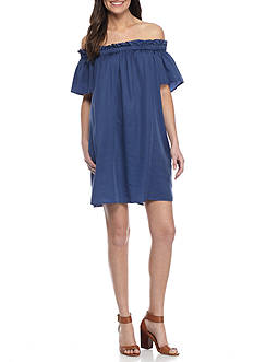 French Connection Stayton Ruffle Dress