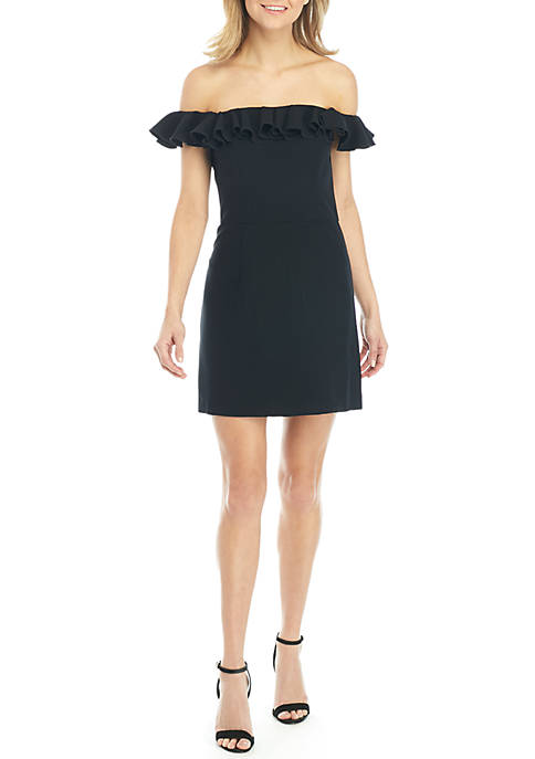 French Connection Essential Ruffle Off-the-Shoulder Dress