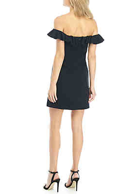 b9010e72b84 ... French Connection Essential Ruffle Off-the-Shoulder Dress