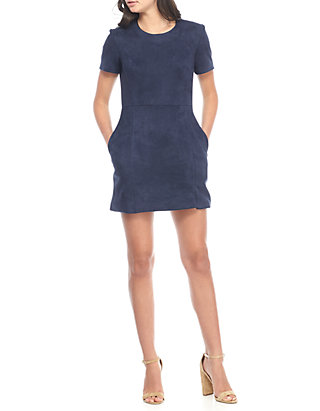 4927751434c French Connection. French Connection Faux Suede Mini Dress