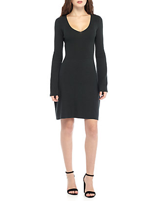 6241bcec789 French Connection. French Connection VIRGIE KNIT FIT-AND-FLARE DRESS