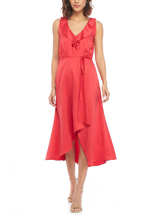 French Connection Drape Wrap Maxi Dress