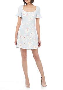 Alba Stretch Floral Dress