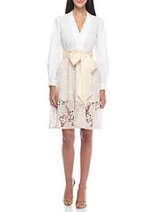 Chania Lace Tie Waist Dress