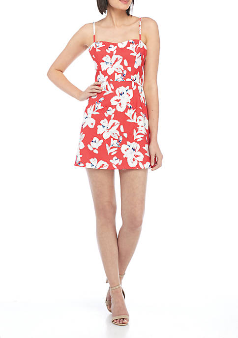 French Connection Verona Floral Printed Sweetheart Dress