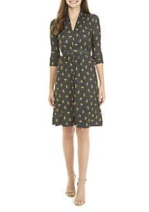 Aventine Jersey Wrap Dress