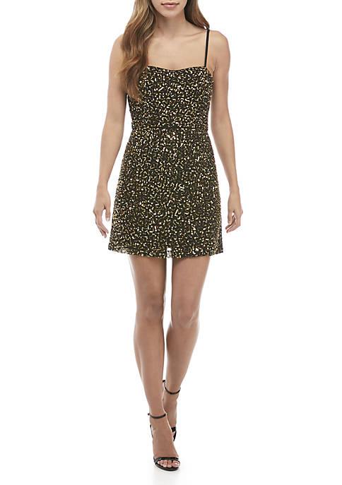 Sweetheart Sequin Dress