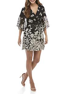 Elsie Satin Wrap Dress