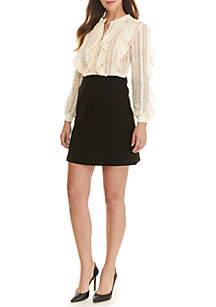 Patricia Crochet Jersey Dress