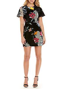 Wilma Devore Velvet Print Dress