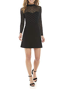 Lea Mesh Top Jersey Dress