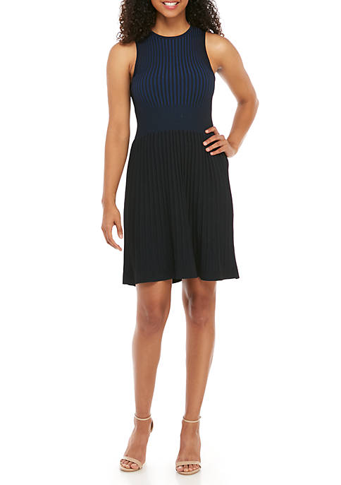 French Connection Sleeveless Rib Sweater Dress