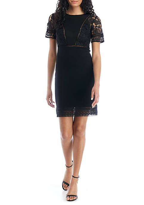 French Connection Viola Lula Lace Jersey Dress
