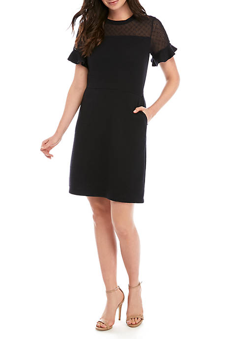 French Connection Jersey Knit A-Line Dress