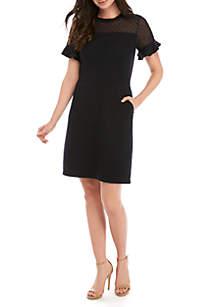 Jersey Knit A-Line Dress