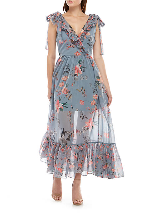 French Connection Cecile Sheer Maxi Dress