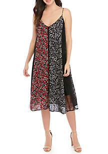 French Connection Amerie Mix Print Tank Dress