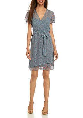 0ac09553b3be French Connection Celestia Short Sleeve Sheer Dress ...