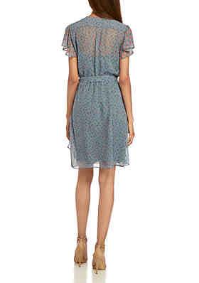 7bbd4b3afe86 French Connection Celestia Short Sleeve Sheer Dress French Connection  Celestia Short Sleeve Sheer Dress