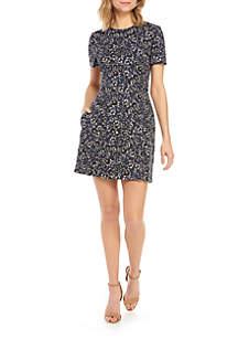 French Connection Audrene Short Sleeve Ditsy Dress