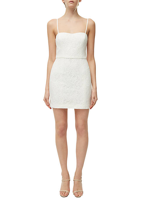 French Connection Lace Whisper Sweetheart Neck Dress