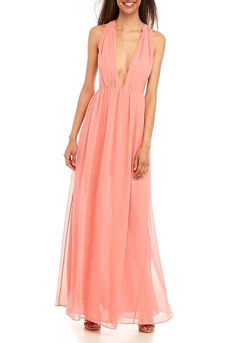 Aster Drape Maxi Dress