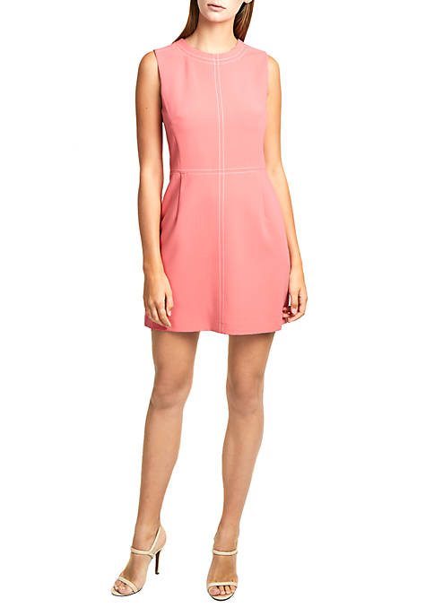 French Connection Brodiaea Whisper Ruth Topstitch Dress