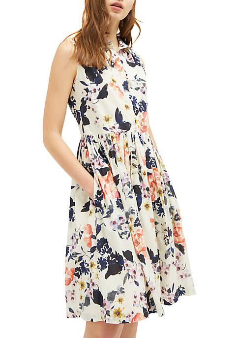 French Connection Acaena Sleeveless Shirt Dress