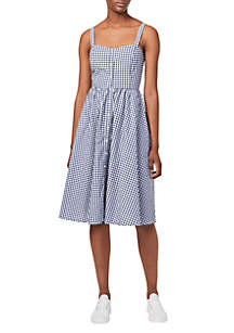 French Connection Lavande Gingham Tank Midi Dress