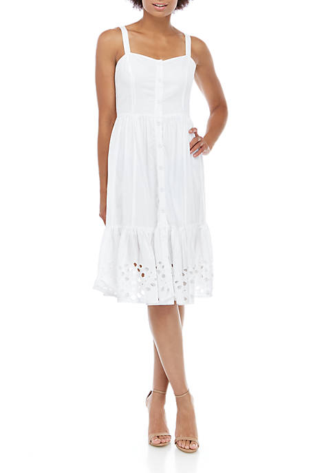 French Connection Ancolie Border Midi Dress