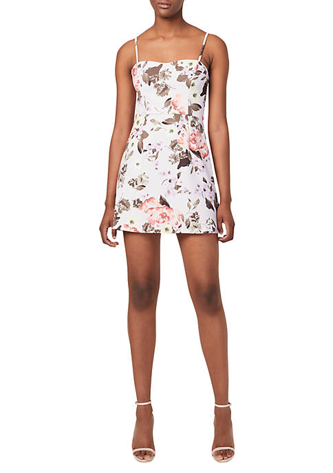 French Connection Printed Armoise Sweetheart Dress