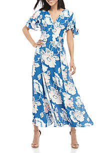 French Connection Cai Floral Wrap Dress