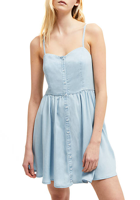 French Connection Lyocell® Button Front Tank Dress