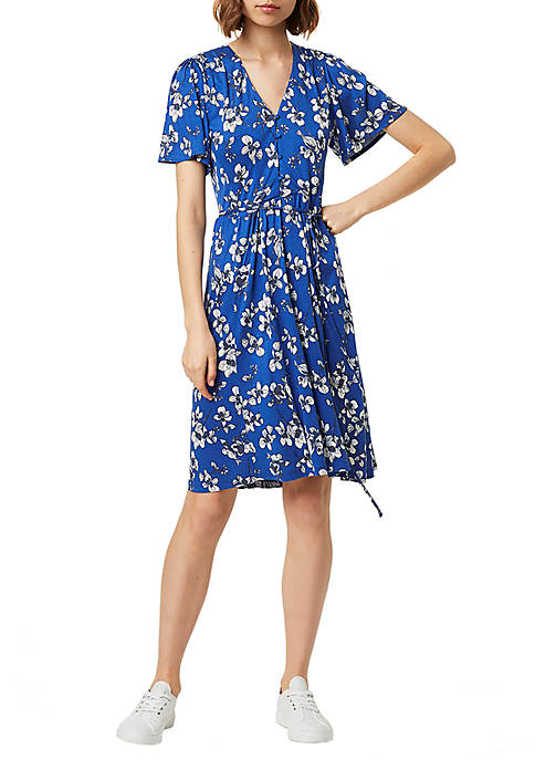 French Connection Meadow Jersey Wrap Dress