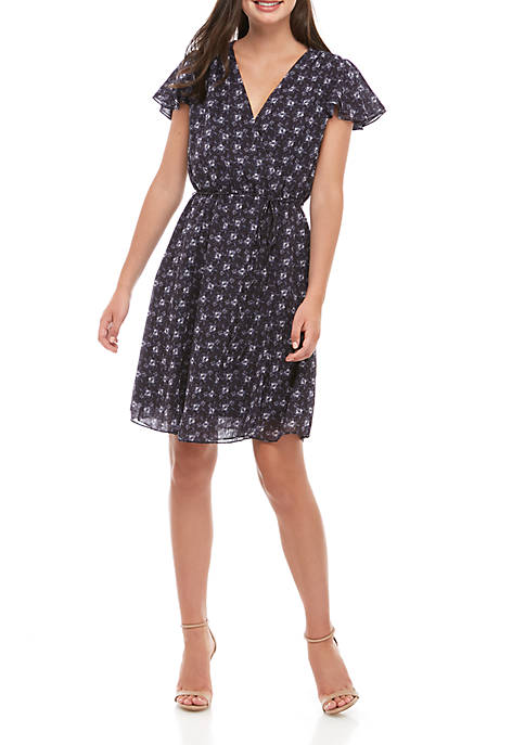 French Connection Agata Georgette Print Dress