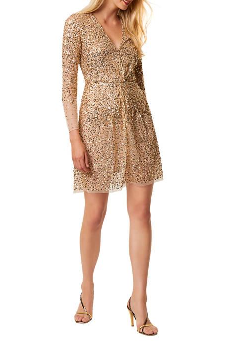 French Connection Emille Sparkle Mini Dress
