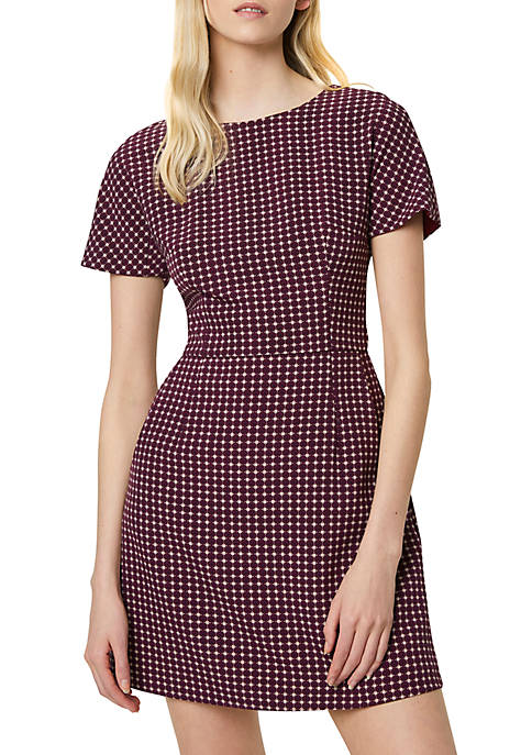 French Connection Short Sleeve Bettina Print Whisper Dress