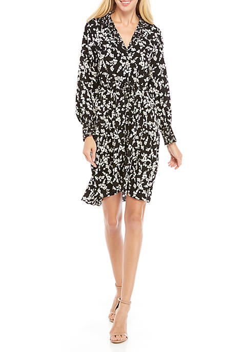 Bruna Long Sleeve Printed Dress