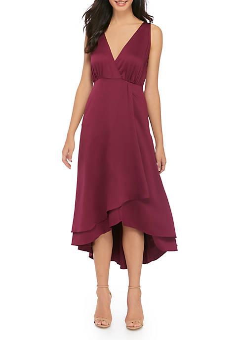 French Connection Womens Alessia Drape Midi Dress