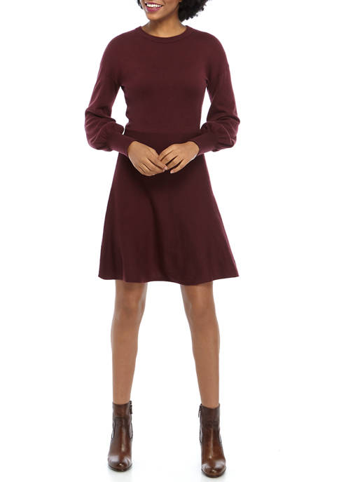 French Connection Fit and Flare Sweater Dress