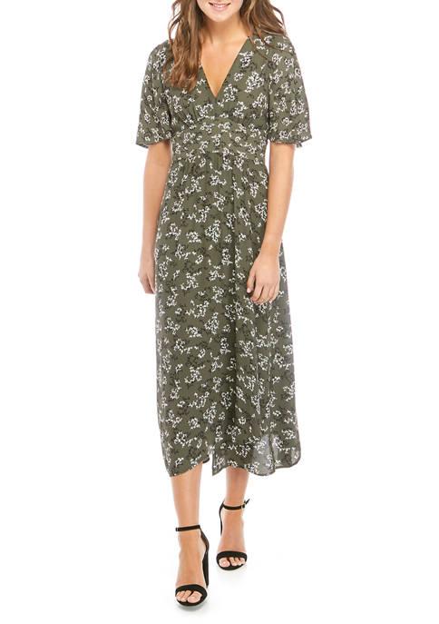 French Connection Short Sleeve Ansa Midi Dress