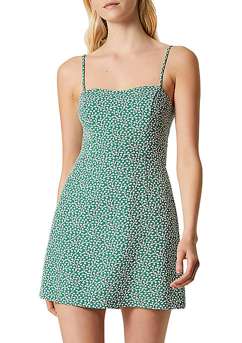 French Connection Printed Sweetheart Whisper Dress