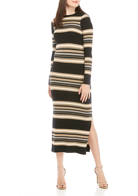 French Connection Striped Bodycon Sweater Dress