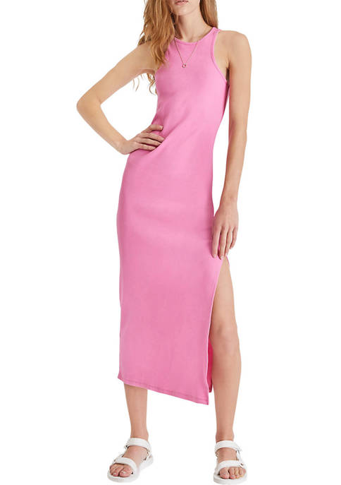 French Connection Ribbed Jersey Racerback Midi Dress