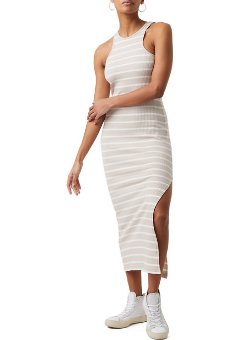 French Connection Tommy Ribbed Racerback High Neck Dress